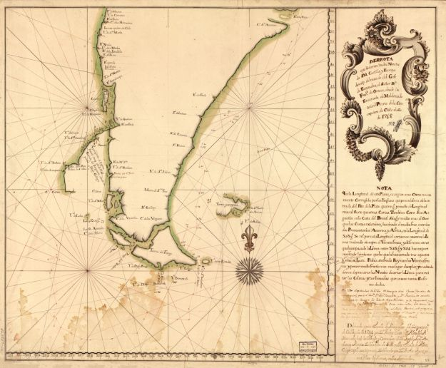 1748 Orosco map [in Library of Congress] published 1760