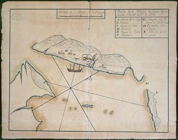 1774 Pilot Simon Pellons drawing of November 15 1 Code ES.41091 AGI27MP BUENOS AIRES 103BIS