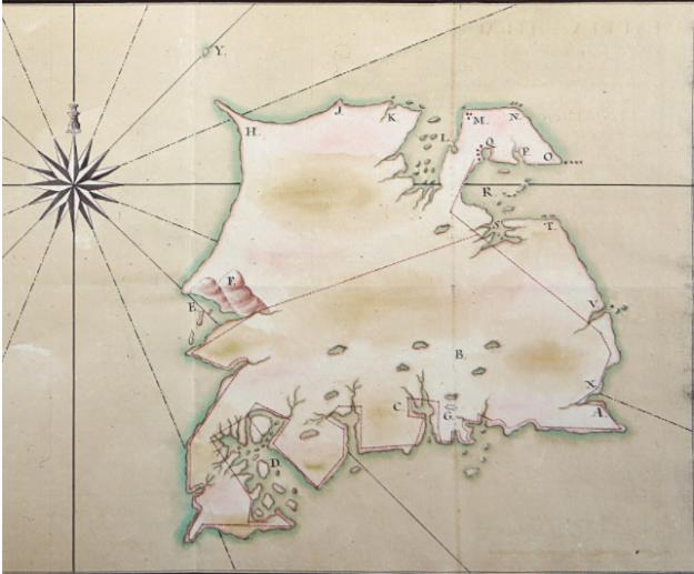 1788 July Isla de Soledad trimmed