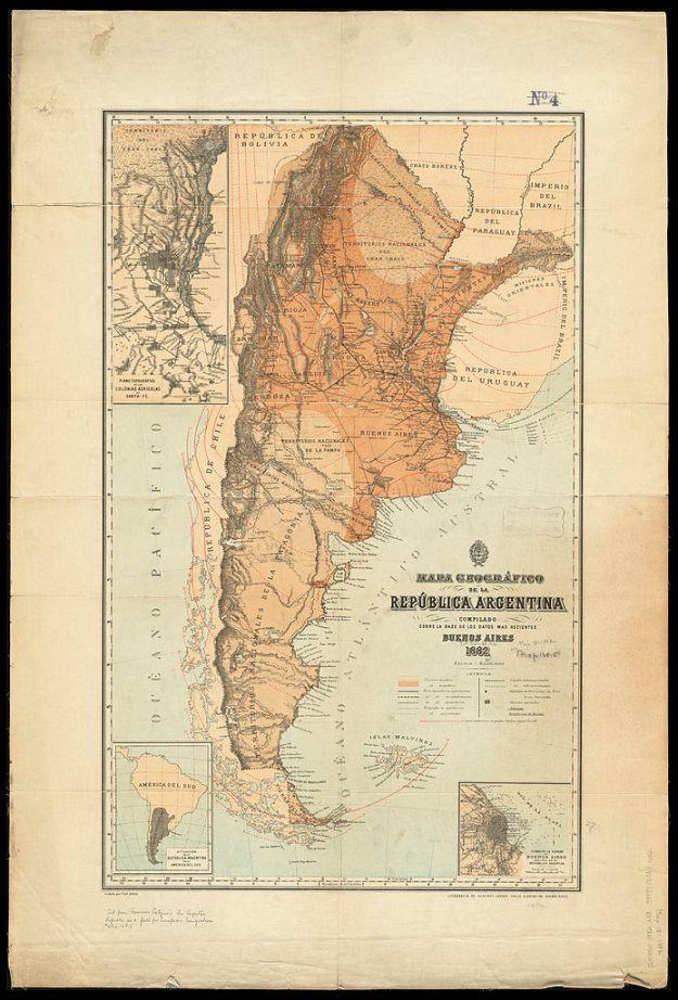 1882 Francisco Latzina Original