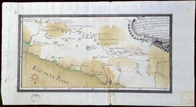 Plan of the Frontier of Buenos Ayres that was recognized by order of His Excellency Don Juan Ioseph de Vertiz Viceroy and Captain General of these Provinces