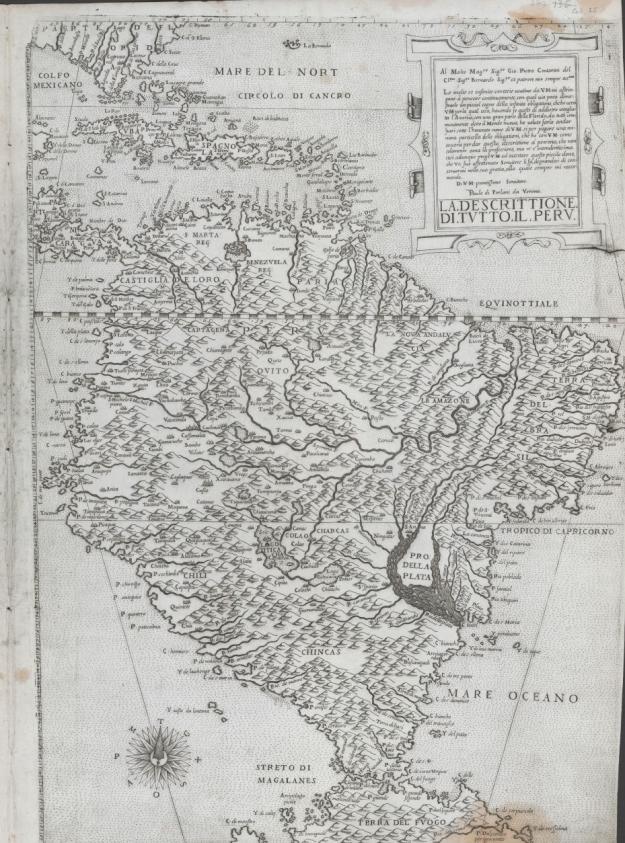 1562 La descrittione di tutto il Peru - Paulo de Forlani (Venice)