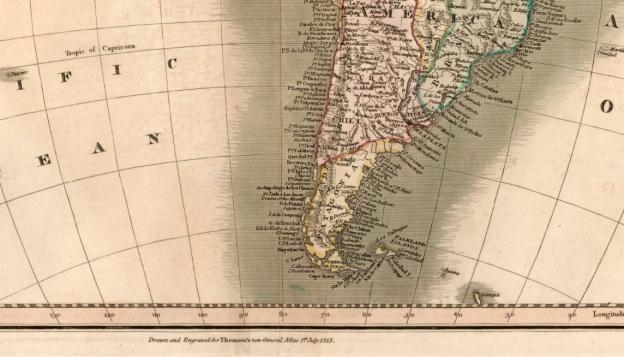 1813 Thompson New General Atlas (detail)