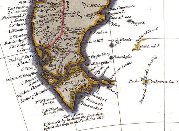 1745 circa - Fragment of Seales map
